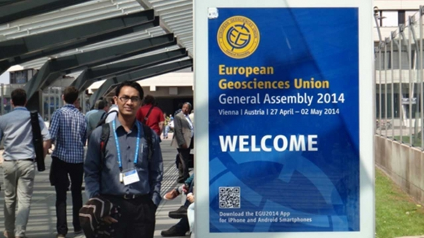 Dr. Kuswanto attends EGU Conference in Vienna 2013